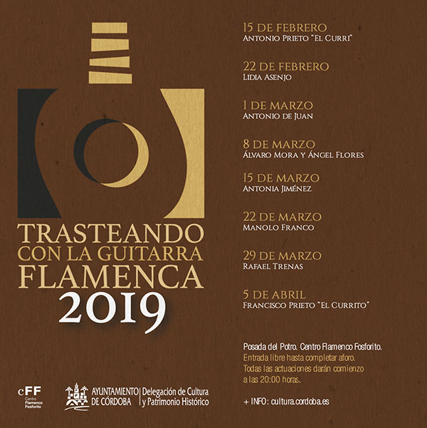 Trasteando con la guitarra flamenca. Centro Flamenco Fosforito. Conciertos de guitarra flamenca