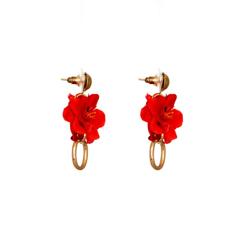 Pendientes de Flamenca 2019 - Pendientes de flamenca de aro mini dorado- Pendientes de Flamenca Rojos- Pendientes de Flamenca Dorados - Pendientes de Flamenca originales - Pendientes de Flamenca artesanales - Pendientes de Flamenca Hechos a Mano - Marbearte