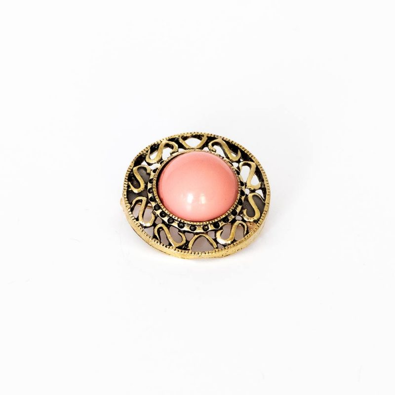Broche de Flamenca de flores - Complementos de flamenca -Moda Flamenca - Complementos de flamenca artesanales - Color Rojo - Broche de flamenca de piedra - Broche de flamenca labrado - Broche de flamenca dorado