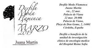Desfile de moda flamenca de Juana Martín @ Palacio de Viana | Córdoba | Andalucía | España