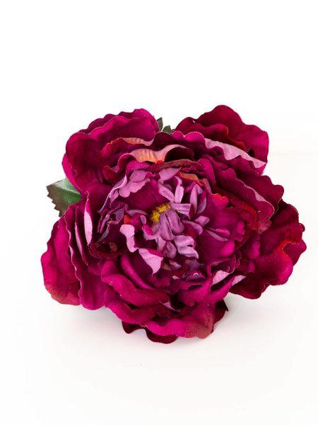 Flores de Flamenca. Peonia de terciopelo - Moda Flamenca 2019 - Flores de Flamenca 2019 - Complementos de Flamencas 2019 - Flores de flamencas artesanales - Ramilletes y flores de tela