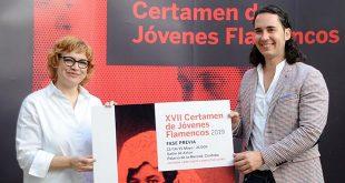 La diputada de Cultura, Marisa Ruz, en la presentación del cartel del Certamen de Jóvenes Flamencos de Córdoba 2019. Foto: Diputación de Córdoba.