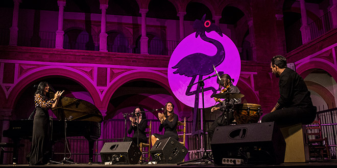 Actuación de la pianista Rosario Montoya en el Compás de San Francisco. Foto: Elena de la Cuesta.
