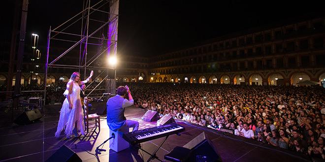 Sarayma, en la Plaza de la Corredera de Córdoba. Foto: M. Valverde.