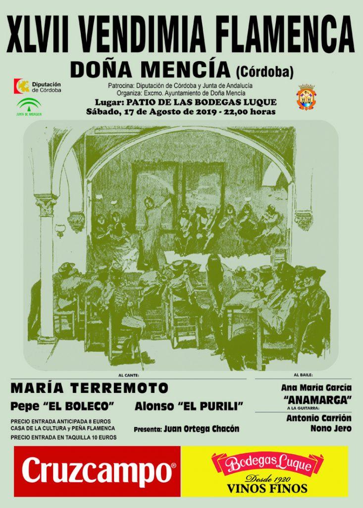 XLVII Vendimia Flamenca de Doña Mencía @ Patio de las Bodegas Luque | Doña Mencía | Andalucía | España