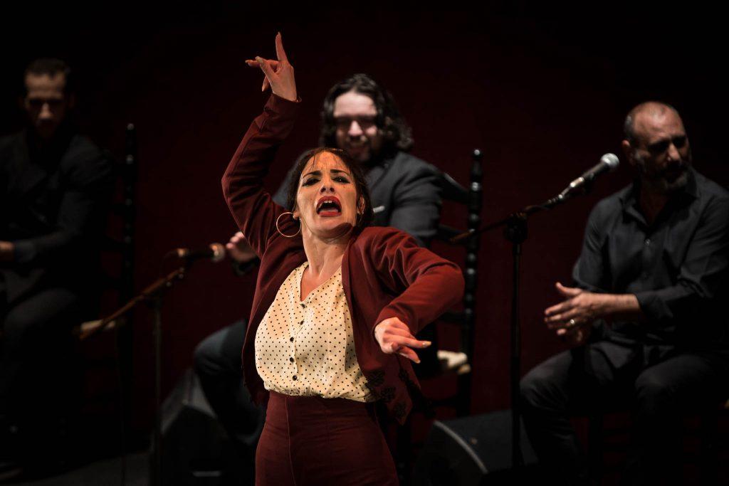 La bailaora Águeda Saavedra, en la final del Concurso Nacional de Arte Flamenco de Córdoba 2019. Foto: M. Valverde.