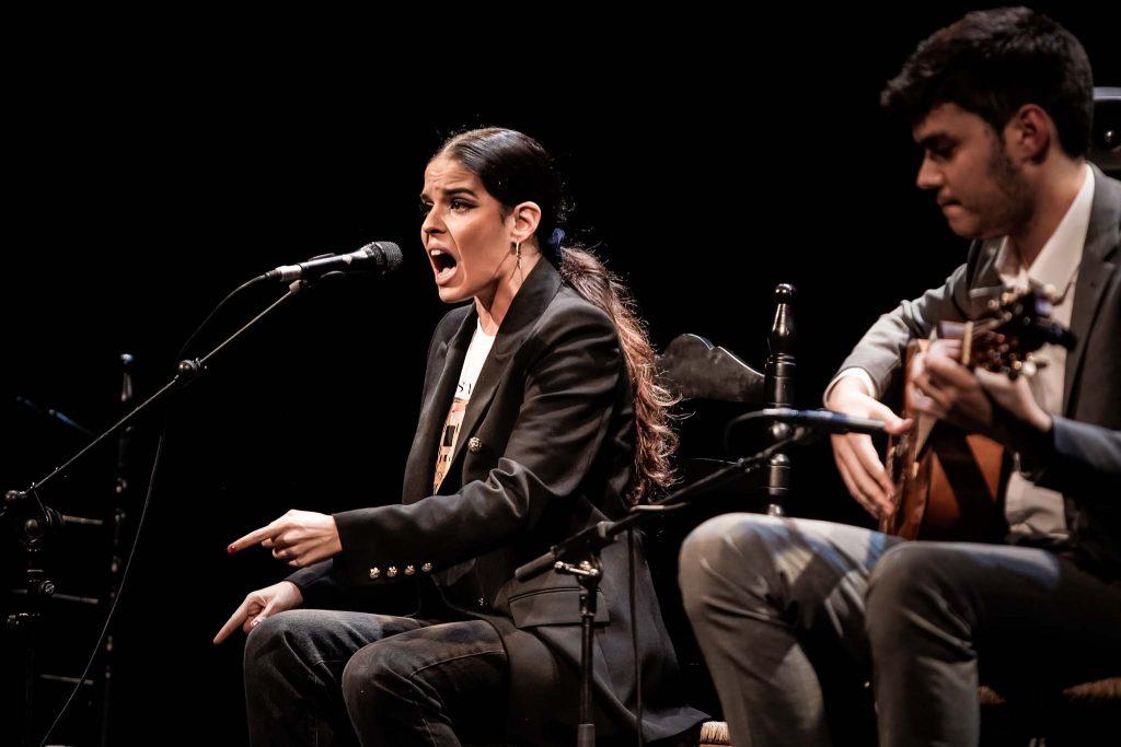 La cantaora Ángeles Toledano, en uno de los momentos de su actuación en la final del Concurso Nacional de Arte Flamenco de Córdoba. Foto: M.Valverde.