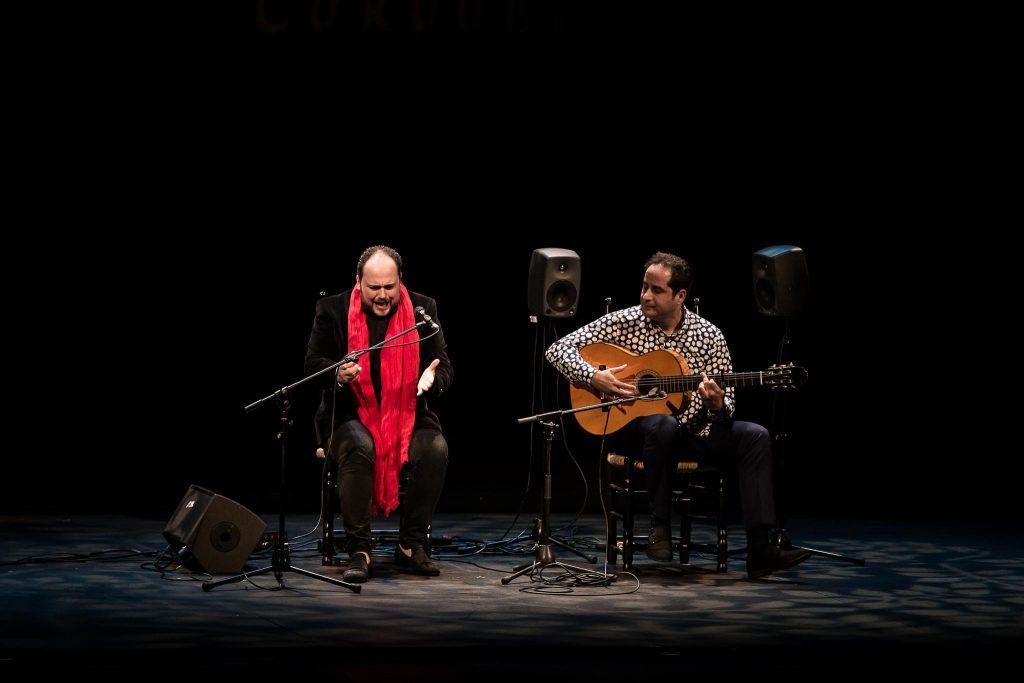 Francisco Escudero 'El Perrete', en uno de los momentos de su actuación en la fase final del Concurso Nacional de Arte Flamenco de Córdoba 2019. Foto: M. Valverde.