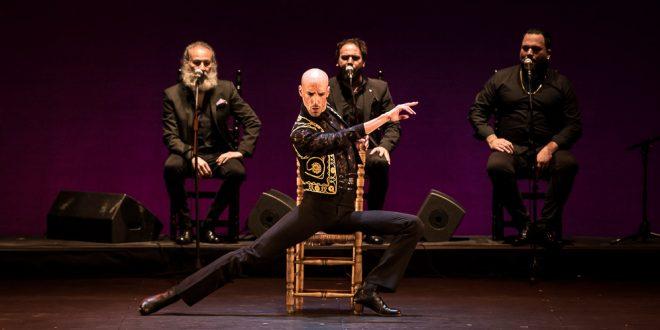 La bailaor Hugo López, durante uno de los momentos de su actuación en la final del Concurso Nacional de Arte Flamenco de Córdoba 2019. Foto: Miguel Valverde,