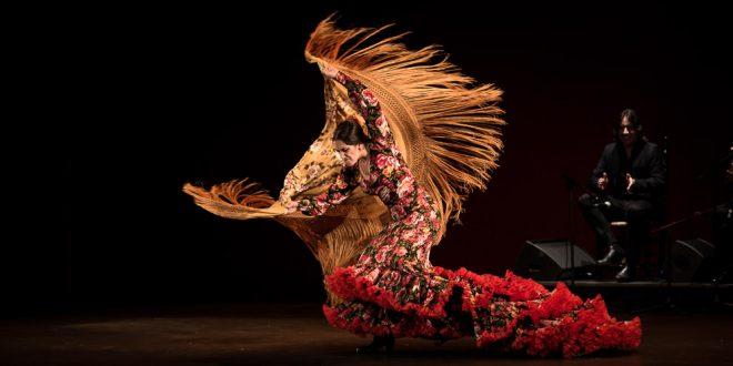 La bailaora Isabel Rodríguez, en uno de los momentos de su actuación en la final del Concurso Nacional de Arte Flamenco de Córdoba. Foto: M.Valverde.
