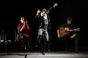 El bailaor Alberto Selléz, en uno de los momentos de el estreno de El Sombrero, de Estévez & Paños Cía. Foto: M. Valverde.