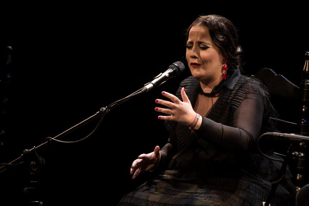 La cantaora Rocío Belén, en la final del Concurso Nacional de Arte Flamenco de Córdoba 2019. Foto: M. Valverde.