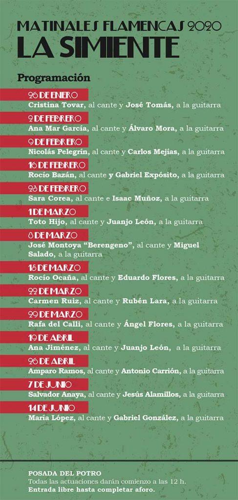 Matinales Flamencas. La Simiente @ Posada del Potro | Córdoba | Andalucía | España