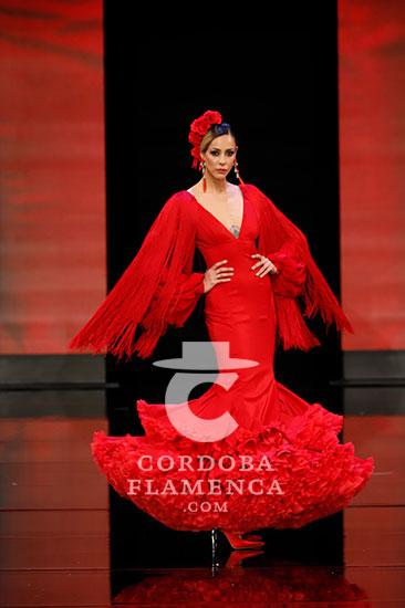 Nueva colección de trajes de flamenca de José Galváñ en Simof . Fotos: Chema Soler.