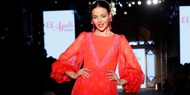 Nueva colección de trajes de flamenca de El Ajolí en We love Flamenco 2020. Foto: Chema Soler.