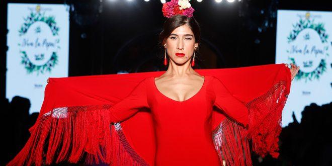 Nueva colección de trajes de flamenca de la firma Pepa Garrido en We love Flamenco. Foto: Chema Soler.