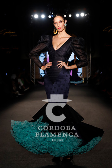Nueva colección de trajes de flamenca de la firma Santana Diseños en We love Flamenco 2020. Fotos: Chema Soler.