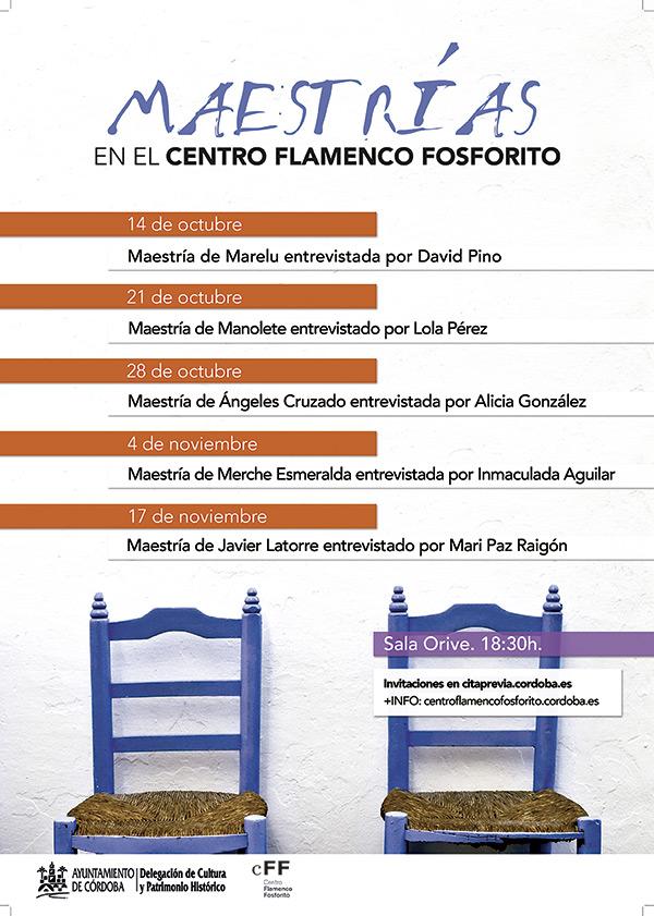 Maestrías en el Centro Flamenco Fosforito @ Posada del Potro | Córdoba | Andalucía | España