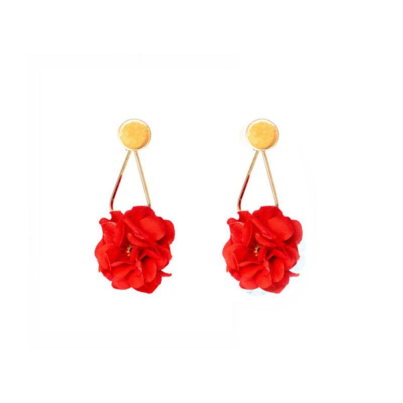 Pendientes de Flamenca 2020 - Pendientes de flamenca dorados - Pendientes de Flamenca de flores- Pendientes de Flamenca rojos - Pendientes de Flamenca originales - Pendientes de Flamenca artesanales - Pendientes de Flamenca Hechos a Mano - Marbearte
