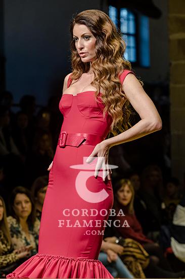 Nueva colección de trajes de flamenca de Ernesto Sillero en la Pasarela Flamenca de Jerez 2020. Foto: Christian Cantizano.