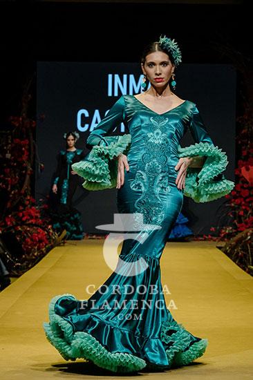 Nueva colección de trajes de flamenca de Inma Castrejón en la Pasarela Flamenca de Jerez 2020. Foto: Christian Cantizano.