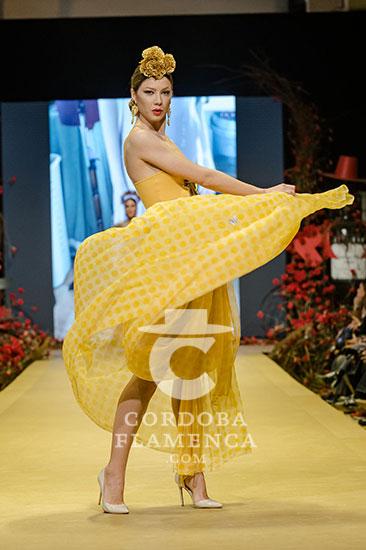 Nueva colección de trajes de flamenca de Merche Moy en la Pasarela Flamenca de Jerez 2020. Foto: Christian Cantizano.