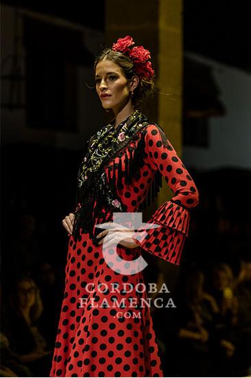 Nueva colección de trajes de flamenca de Miabril en la Pasarela Flamenca de Jerez 2020. Foto: Christian Cantizano.