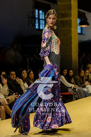 Colección de trajes de flamenca de Pol Núñez en la Pasarela Flamenca de Jerez 2020. Foto: Christian Cantizano.