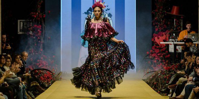 Nueva colección de trajes de flamenca de Rocío Segovia en la Pasarela Flamenca de Jerez 2020. Foto: Christian Cantizano.