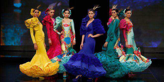 Nueva colección de trajes de flamenca de Ana Morón en Simof 2020. Foto: Chema Soler.