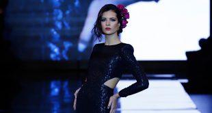 Nueva colección de trajes de flamenca De lunares y volantes presentada en Simof. Foto: Chema Soler.