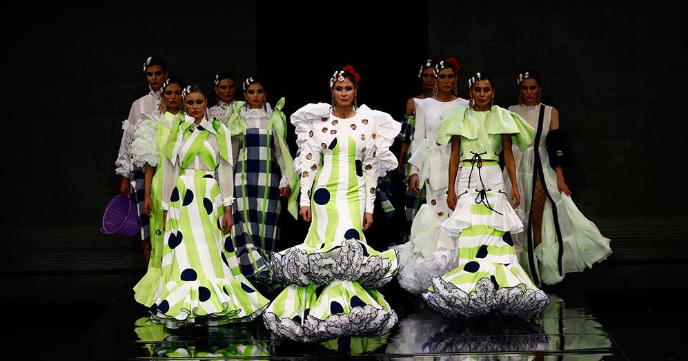 Nueva colección de trajes de flamenca de José Raposo en Simof 2020. Foto: Chema Soler.