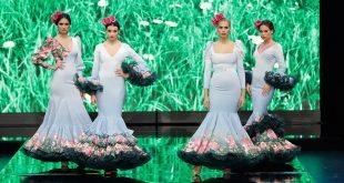 Nueva colección de trajes de flamenca de Leticia Lorenzo en Simof. Foto: Chema Soler.
