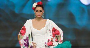 Nueva colección de trajes de flamenca de Miriam Galvín en Simof. Foto: Chema Soler.