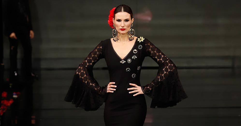 Nueva colección de trajes de flamenca de Pilar Rubio en Simof 2020. Foto: Chema Soler.