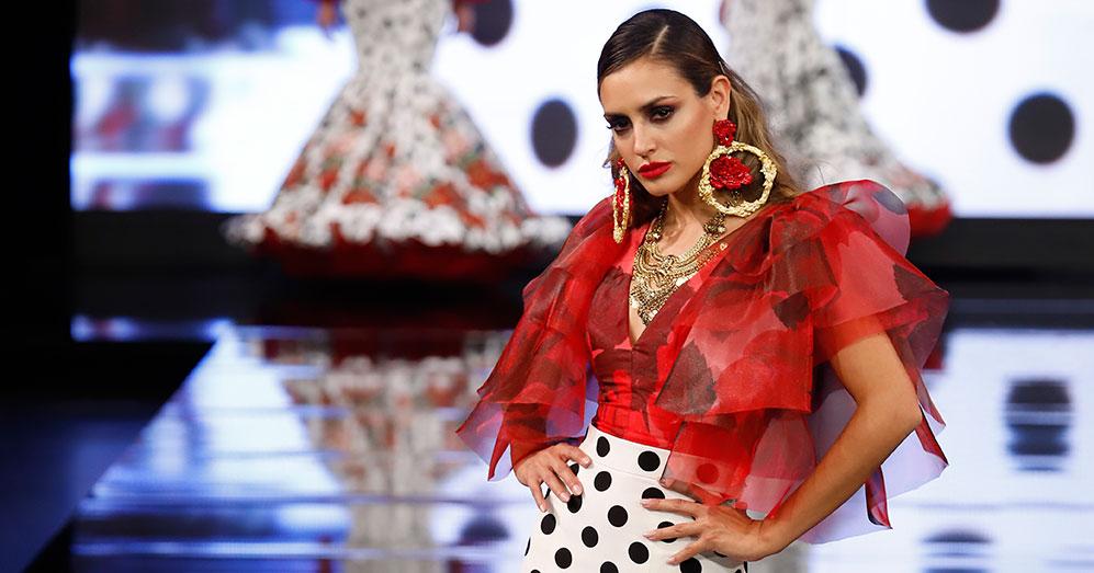 Nueva colección de trajes de flamenca de Rosa Pedroche en Simof 2020. Foto: Chema Soler.