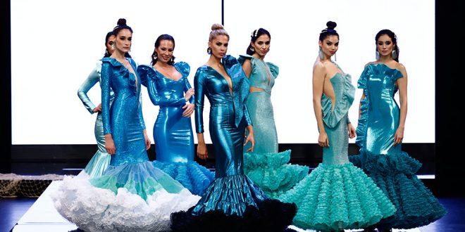Nueva colección de trajes de flamenca de Rosapeula en Simof 2020. Fotos: Chema Soler.