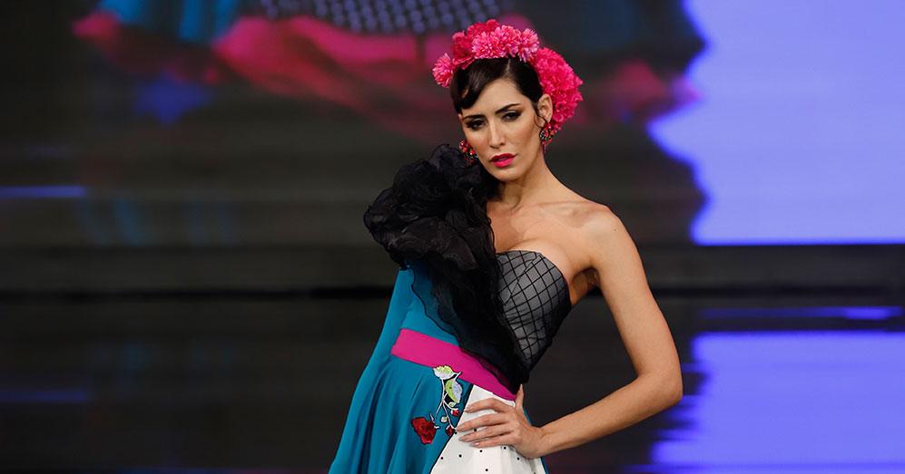 Nueva colección de trajes de flamenca de Verónica de la Vega en Simof 2020. Foto: Chema Soler.