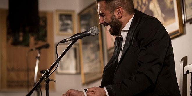 El cantaor Rafa del Calli en una actuación en la Peña Flamenca de Córdoba. Foto: M. Valverde.